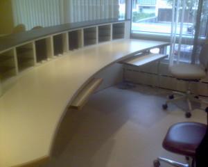 comptoir réception du centre dentaire Dr Cormier